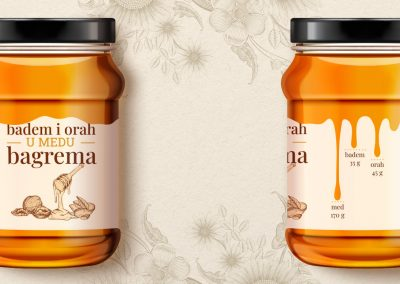 Jar of honey label