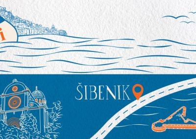 Mobile Visitor Center van Šibenik sketch