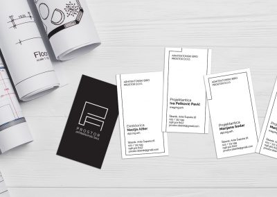 Prostor architectural office business cards